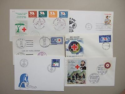 Six RED CROSS fdc