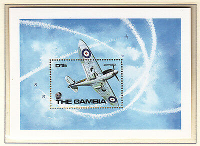 Gambia 1990 Aircraft Pair of Sheets MS's 1011a & b UM Cat £8.50