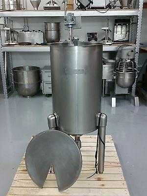 30 Gallon 316 Stainless Steel Mixing Tank w GAST PNEUMATIC Mixer