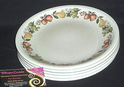 FIVE Wedgwood QUINCE Dessert Plates