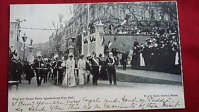KING GEORGE V  Royal Party Belfast 1921 Opening Ulster Parliament City Hall P.C.