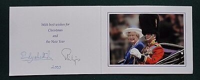Signed Autograph Christmas Card from Queen Elizabeth Prince Philip 1973