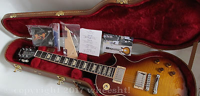 New 2016 Gibson Les Paul Standard T Aaa Carved Flame Top Tea Burst Electric