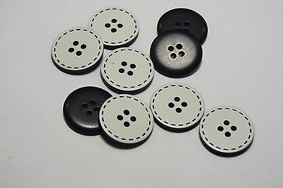 8pc 19mm White Fabric Cover Coat Cardigan Knitwear Kids Baby 2 Hole Button 3239
