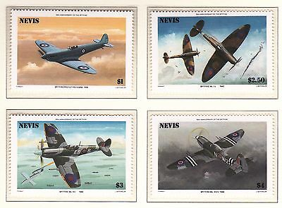 Nevis 1986 50th Anniv of The Spitfire Set and Sheet UM Cat £2.35