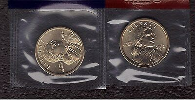 2002-P & D Uncirculated Sacagawea Dollars In Mint Cello  (2 Coin Set)