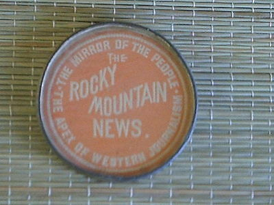 Vintage Rocky Mountain News the mirror of the people advertising gift mirror.