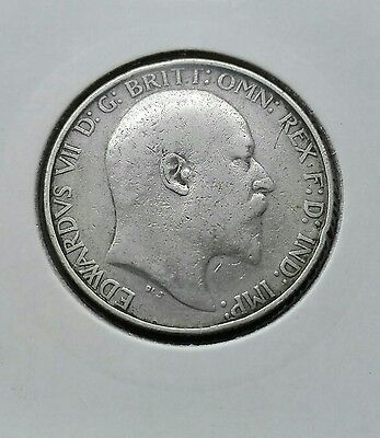 Edward VII Florin 1902 large solid silver coin