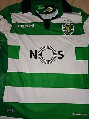 Sporting lisbon home shirt large and xlarge