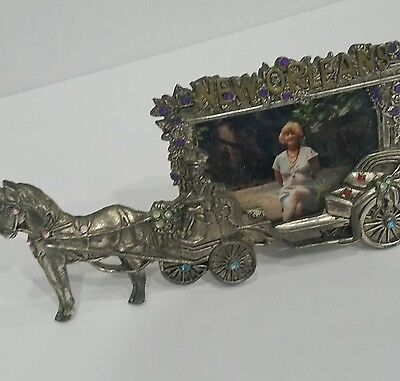 Vtg HEAVY New Orleans Horse and Buggy Frame