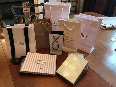Designer Bags Dior, Burberry, Chanel, Westwood Shopping Bags Paper