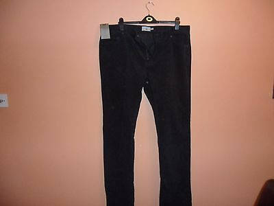 Gents Slim Fit Navy Cord Trousers M & S
