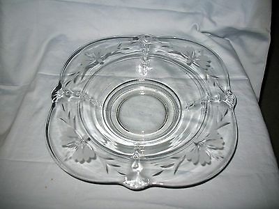 Paden CITY Crows FOOT Flared CONSOLE Bowl CRYSTAL Wheel CUT Etching