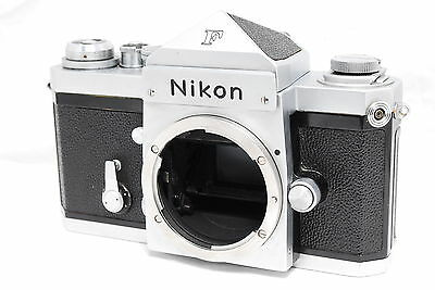 Excellent Nikon F Eye Level 35mm SLR Film Camera Body from Japan #853