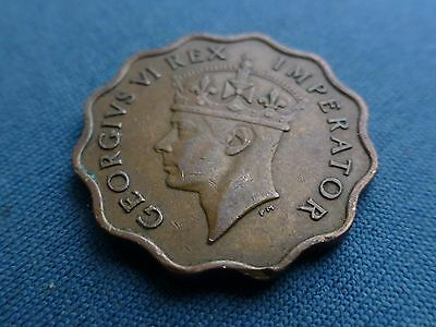 Cyprus George V1 1942 One Piastre Nice Rare Coin
