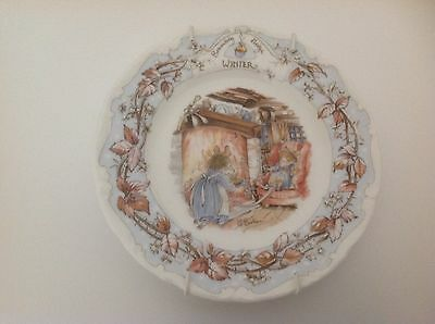 Jill Barklem 1983 Brambley Hedge Wall Plates Winter  Small Plate 6.5""
