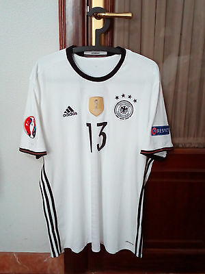 #13 MULLER, GERMANY National Team, Official Home shirt used in the EURO 2016