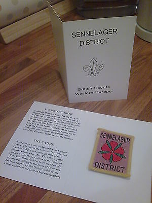 British Scouts , Western Europe , Sennelager , District Badge