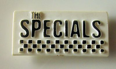 THE SPECIALS VINTAGE PLASTIC PIN BADGE FROM THE 1980's TWO TONE SKA RUDE BOY