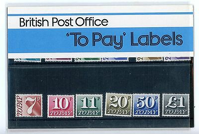 TO PAY LABELS PACK No 93 WITH ALL MINT STAMPS SEE PICTURES