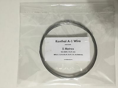 KANTHAL A1 RESISTANCE WIRE 24 AWG / 0.5 MM - 5 Metres -