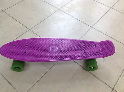 Penny Board Style Skateboard, Pink and Green