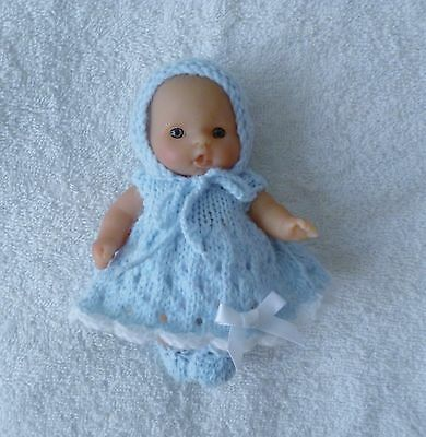 """Hand knitted dolls Clothes to fit   5""""BERENGUER,LOTS TO LOVE ,ITTY BITTY"""