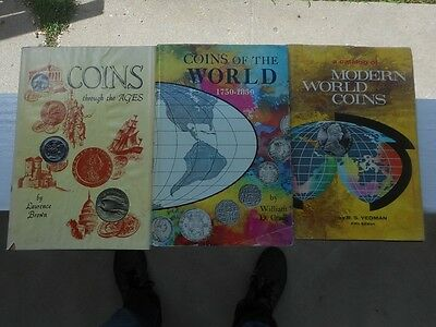 Lot of Three World Coin Books