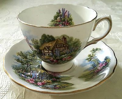 Gorgeous  Royal Vale Cottage Cup & Saucer