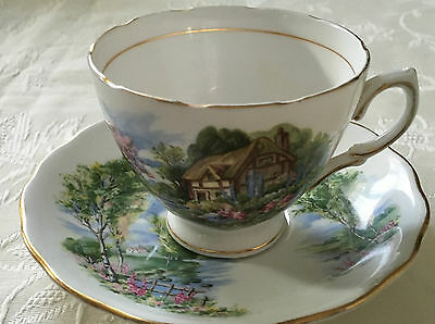 Amazing Royal Vale Cottage Cup & Saucer
