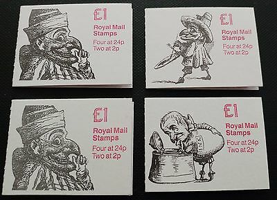 GB:1991/2:Punch Booklets.Booklets x 4.MNH.