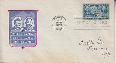 1942 #906 China Wwii Fdc Ioor Cachet