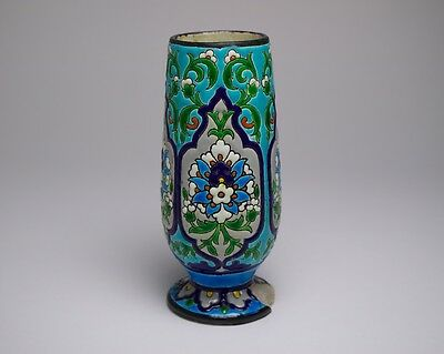 Antique 19thc. Jules Vieillard pottery Chinese / Islamic inspired vase.