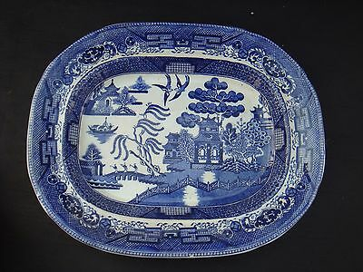 Vintage Wedgwood Willow Pattern Small Platter Plate Blue And White