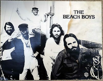 Beach Boys original Warner Brothers early 70's promo poster 27 X 21 inches