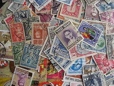 THAILAND scrap pile of 73 older stamps, duplication, mixed condition