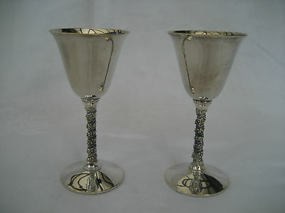 Splendid Pair Of Silver Plated Goblets