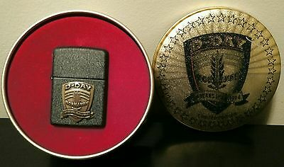 Zippo D-Day 50 Years Black Crackle Lighter 1944-1994 Limited Edition