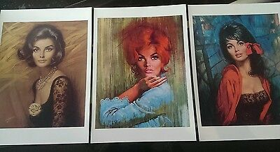 Shabner set of 3 beautiful quality A3 prints kitsch vintage Tretchikoff lynch