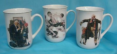 Lot of 3 Norman Rockwell Saturday Evening Post Mugs