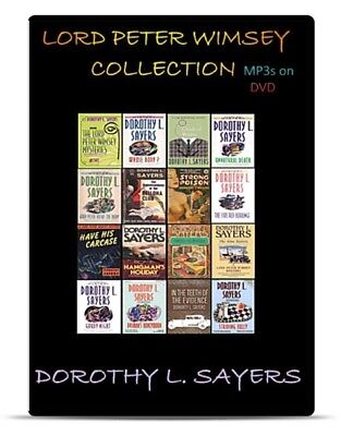 Lord Peter Wimsey 15 Mysteries Audio Book Collection 132 Hrs MP3 on DVD + CASE