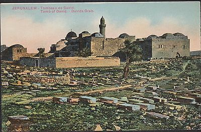 ANTIQUE POSTCARD OF JERUSALEM.TOMB OF DAVID. UNPOSTED. circa 1914