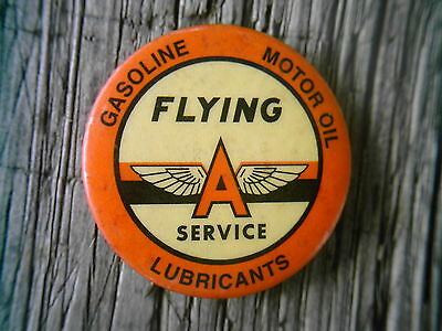 AWESOME 1950's - 1960's ORIGINAL FLYING A PINBACK       LOOK