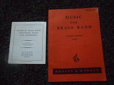 2 x BRASS BAND BOOKLETS. BOOSEY & HAWKES 1968/9 CATALOGUE+1964 COMPETITION RULE