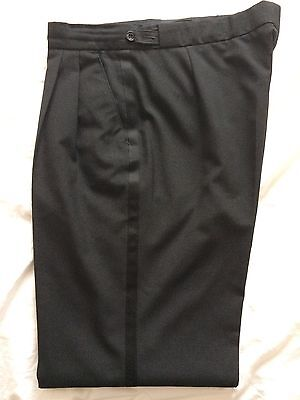 "DJ Dinner Jacket Tuxedo TROUSERS 34"" Long,with Satin band"