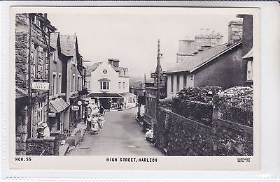 Frith Postcard High Street, Harlech Ladies Hairdressers & Post Office, Wales