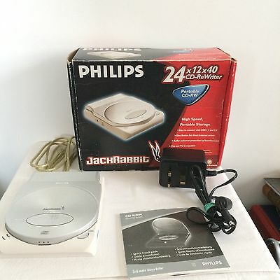 Philips Jackrabbit Portable CD-RW CD Rewriter USB 24x12x40