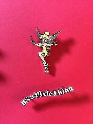 """Disney DLR 2001 Tinker Bell """"Its A Pixie Thing"""" 2 Pin Set"""