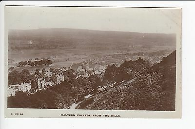 Worcestershire Malvern College From the Hill Real Photo Postcard Kingsway