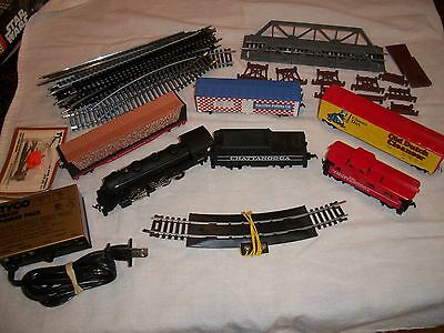 Tyco HO Chattanooga Steam Engine & Tender #638 TRAIN SET w/ Track w/ Caboose